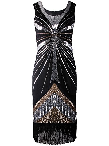 Vijiv Vintage Downton Embellished Flapper
