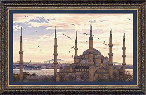 - BT-516 Embellished stitch kit Crystal Art The Sultan Ahmed Mosque 47.5x27 cm / 18.50x10.63 in