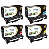 Catch Supplies Replacement HP 312X toner cartridge 4 pack set  1 High Yield Black CF380X, Cyan CF381A, Yellow CF382A, Magenta CF383A  compatible with the HP Color LaserJet Pro MFPM476nw, M476dn,M476dw