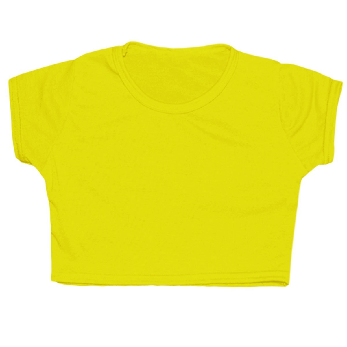 FAST TREND CLOTHING New Tween Kids Girls Neon Fluorescent Plain Short Sleeves Crop Tops Dance Wear Gymnastic Fancy Dress Age: 5-13 Years by Fast-Trend