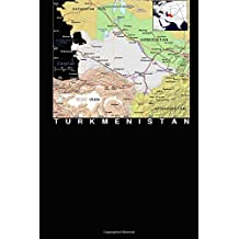 Modern Day Color Map of Turkmenistan Journal: Take Notes, Write Down Memories in this 150 Page Lined Journal