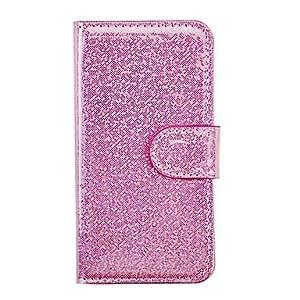 conseguir Patrón Glint Rosa PU Leather Case entera para i9500 Samsung Galaxy S4