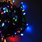 GEZICHTA Outdoor Solar Power String lights 50/100/200 LED Waterproof Solar Powered LED Fairy Lights for Christmas, Home, Garden, Yard, Porch, Garden,Wedding Party Decoration(100LED,Multicolor)
