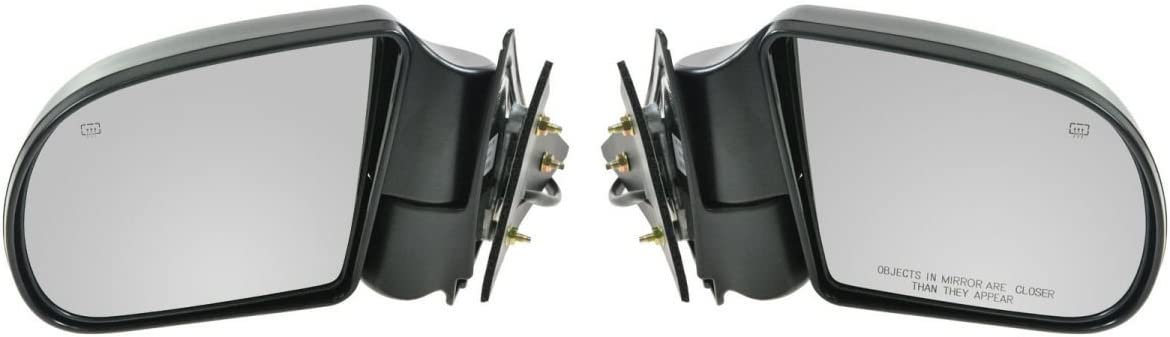 Black Power Heated Side Door Mirrors Left /& Right Pair Set for Blazer S10 Jimmy
