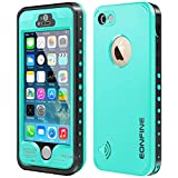 iPhone 5s Waterproof Case,Eonfine iPhone 5 5s Full Sealed Shockproof Case With Touch ID Heavy Duty Protective Case Cover For iPhone 5 5s Teal