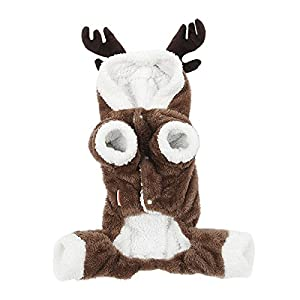 UHeng Funny Pet Dog Cat Apparel Tidy Elk Dressing up Hat Party Clothes Costume