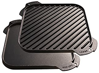 Lodge LSRG3 Cast Iron Single-Burner Reversible Grill/Griddle, 10.5-inch (B000E1WA7Q) | Amazon Products