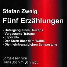 Fünf Erzählungen Hörbuch von Stefan Zweig Gesprochen von: Hans Jochim Schmidt