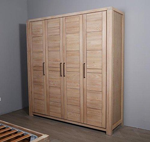 Solido legno quattro ante Armadio appendiabiti, organizer da letto ...