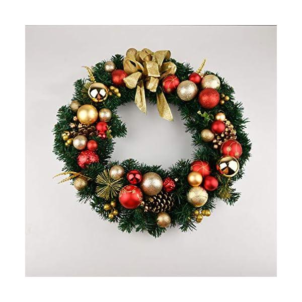 YILEEY Decorazioni Albero di Natale Palline di Plastica Oro e Rosso 68 Pezzi in 14 Tipi, Scatola di Palline di Natale Infrangibili con Gancio, Ornamenti Decorativi Ciondoli Regali 6 spesavip