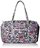 Vera Bradley Iconic Large Travel Duffel, Signature Cotton, Lavender Meadow