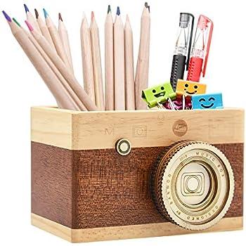 Amazon.com: Zakka - Portalápices de madera para cámara ...