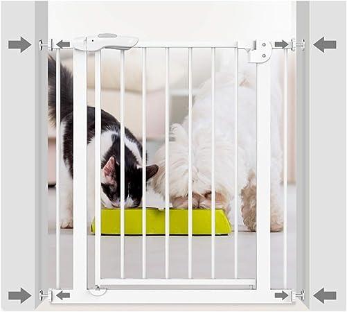 WHAIYAO Bebé Puerta De La Escalera Barrera Bajo Techo Exteriores Perros Mascotas Aislamiento Auto Cerrado Escalera Puertas Kit De Montaje A Presión, Escalable (Color : White, Size : 205-214cm Wide): Amazon.es: Hogar