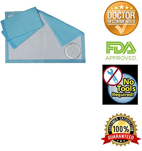 Chux Disposable Underpads by Healthline, Disposable Waterproof Absorbent Incontinence Bed Pads for Adults, Elderly, Pets, Medical Chucks Pads & Mattress Protector, 24X17, 100/Case, Blue