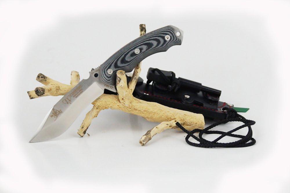 de uso deportivo herramienta camping pesca y caza actividad deportiva tarjeta multiusos regalo Cuchillo de supervivencia Cudeman JJSK1 124-M con mango micarta bicolor hoja de 11,7 cm