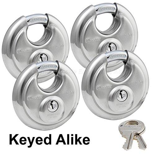 Master Lock - (4) Keyed Alike Stainless Steel Trailer and Multi Purpose Padlocks (Master Lock Keyed Alike Trailer)
