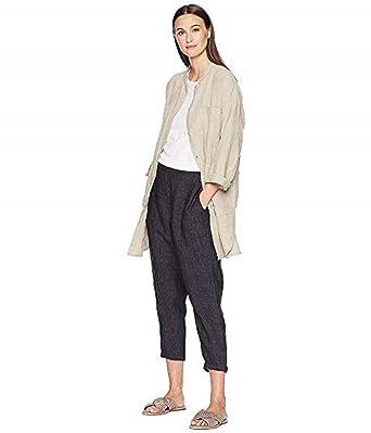 b13ce3831fd Eileen Fisher Undyed Organic Linen Long Jacket at Amazon Women s ...