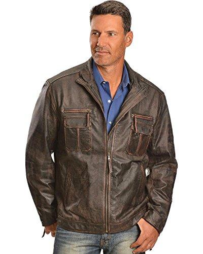 (Scully Men's Vintage Lamb Jacket Oxblood Large)
