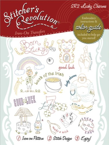 Stitcher's Revolution Lucky Charms Iron-on Transfer Pattern for Embroidery