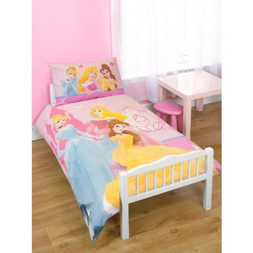 Childrens/Kids Girls Disney Princess Junior Bed Quilt/Duvet Cover ... : junior bed quilt - Adamdwight.com