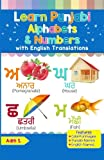 Learn Punjabi Alphabets & Numbers: Colorful Pictures & English Translations