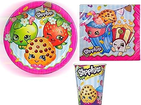 Amazon.com: Shopkins Fiesta de cumpleaños suministros Pack ...