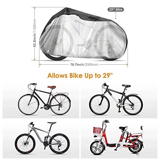 100 x 200cm Waterproof Bicycle Protection Cover Rain Weather Snow Bike Cycle UK