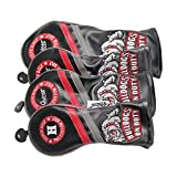 Guiote Golf Head Covers PU Leather Vintage Design