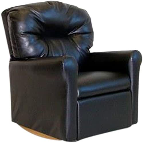 Dozydotes Child Rocker Recliner Contemporary Black Leather DZD10739