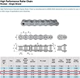 Donghua® #35 Go Kart Chain 3 Ft, With 1 Connecting/ Master Link, Top Quality