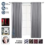 Cheap Arrowzoom New 51.2 X 70.9 Inches Gray Blackout Room Darkening Window Draperies Curtain Panel AZ1145 (GRAY)
