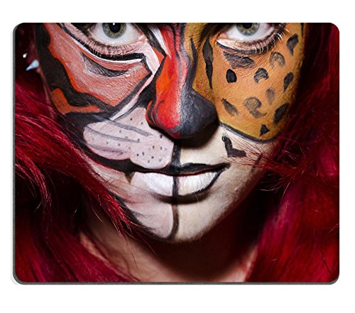 MSD Mousepad IMAGE 26880399 Woman with face painting in dark room