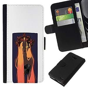NEECELL GIFT forCITY // Billetera de cuero Caso Cubierta de protección Carcasa / Leather Wallet Case for LG OPTIMUS L90 // Naranja Woamn Cabello