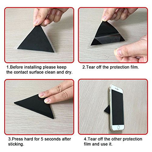 Sticky Gel Pad - Stick to Glass, Mirrors, Whiteboards, Metal, Kitchen Cabinets or Tile, Car GPS
