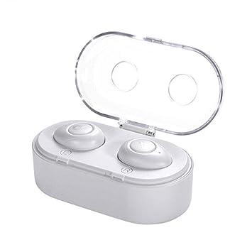 Easy-topbuy Auricular con la Carga de la Bandeja para Auriculares Mini Auriculares inalámbricos de Modo Privado Auriculares Bluetooth para el Coche by: ...