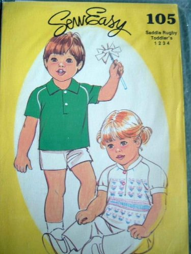 TODDLERS SADDLE RUGBY SHIRT SIZE 1-2-3-4 SEW EASY SEWING PATTERN 105 ()