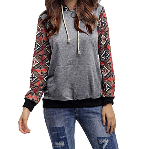 (Hoodie Coat,Toimoth Womens Casual Hooded Sweatshirt Pullover Outerwear Tops Blouse(Gray,L))