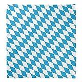 Pack of 12 Blue and White Oktoberfest Decorative Bandanas 22''