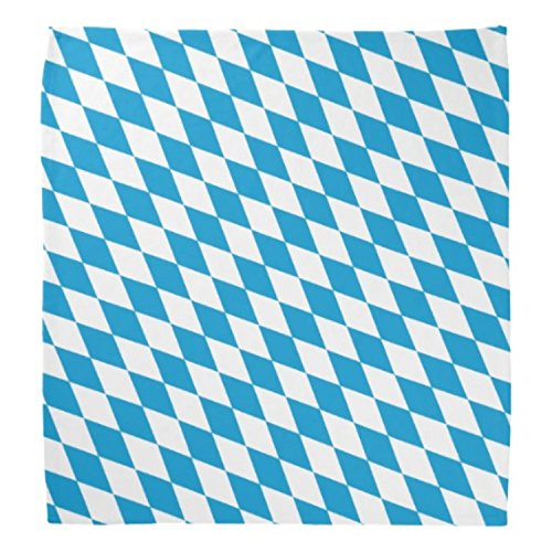 Pack of 12 Blue and White Oktoberfest Decorative Bandanas 22'' by Party Central