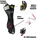XtremeVision H4/9003 Hi/Lo Bi-Xenon Controller HID Battery Relay Wiring Harness 12V 35W/55W