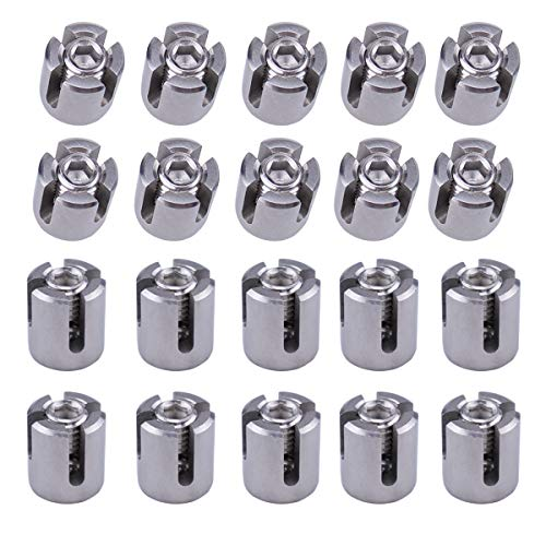(Muzata Cable Railing Cross Cable Clamps for 1/8