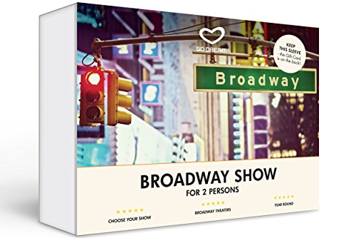 Broadway Show in New York Experience Gift Card NYC - GO DREAM - Sent in a Gift Package