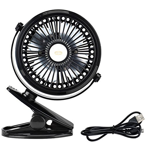 Top Quality Quite Silent Working USB Powered Clip On Mini Electric Fan - Adjustable and 360 Degrees Rotatable in Black