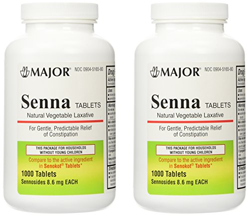 Senna 8 6 Mg Natural Vegetable Laxativ 1000 Tablets