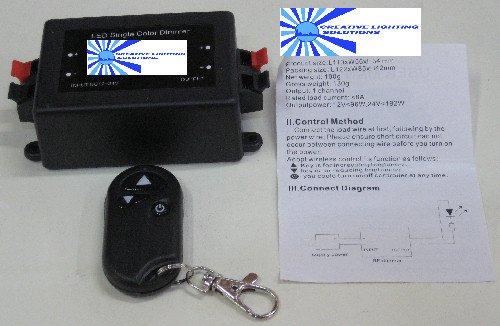 LEDシングルカラーRFリモートコントローラ/ディマー – 12 / 24vdc – 8 A   B0039BVS0I