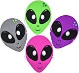 12 Outerspace Aliens Foam Party Masks Costume Accessory