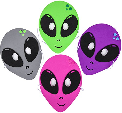 12 Outerspace Aliens Foam Party Masks Costume Accessory]()