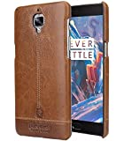Pierre Cardin Leather back Cover For oneplus 3t (1+3) (Brown) by jazz