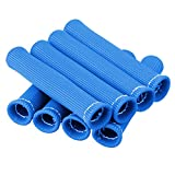 CarBole 8PCS Car 1200 Degree Spark Plug Wire Boots Heat Shield Protector Sleeve Cover fit for SBC BBC 350 454 Blue