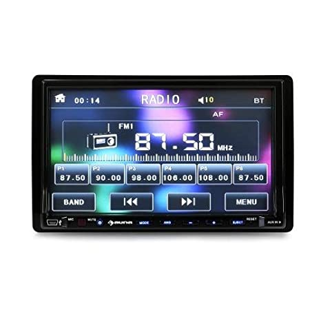 Auna DVA72BT 180W Bluetooth receptor multimedia para coche - Radio para coche (2 DIN,